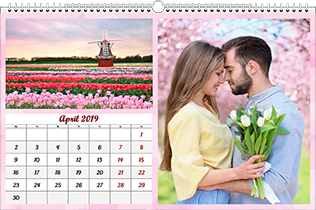 12 page family calendar