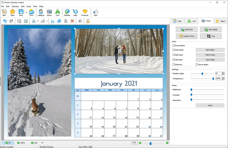 make your own photo calendars 2020