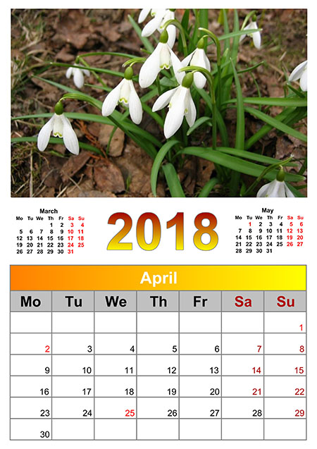 calendar creator 2018