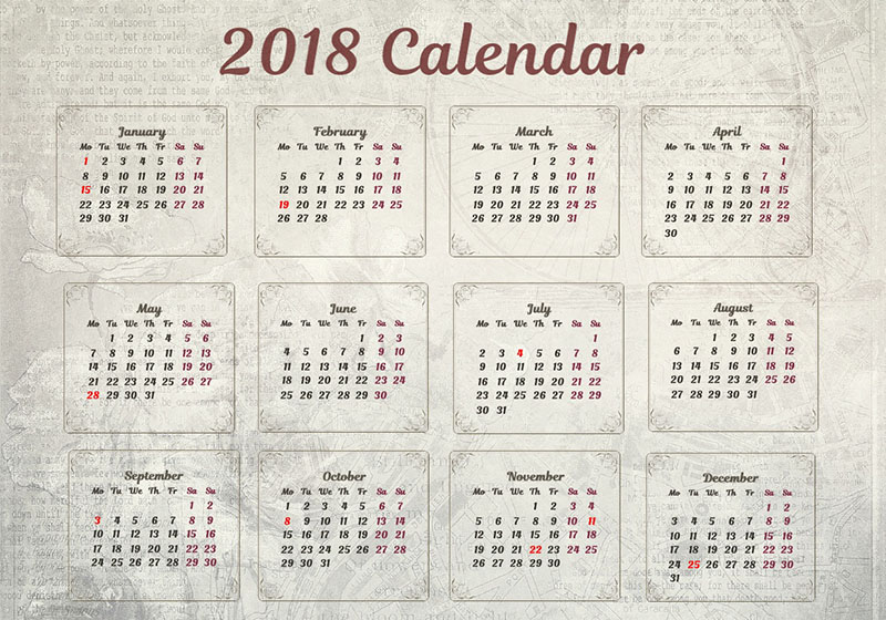 Pocket Calendar Design : Yearly photo calendar wall pocket designs