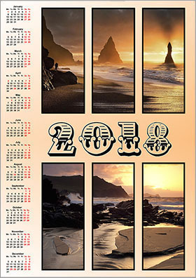 Vertical wall calendar example 2