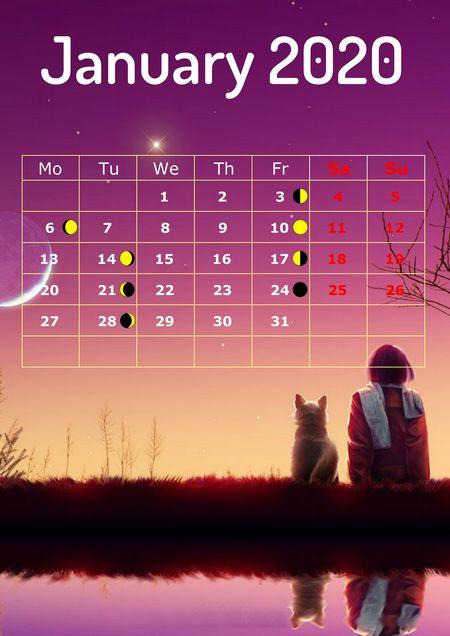 Calendar Creator 2020 Make 2020 Lunar Calendar with Photo Calendar Creator