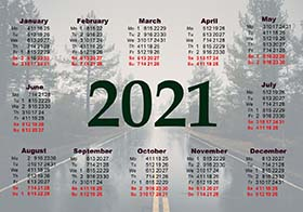 2021 pocket calendar example 3
