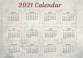 2021 pocket calendar example 4