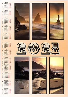 2021 vertical wall calendar example 2