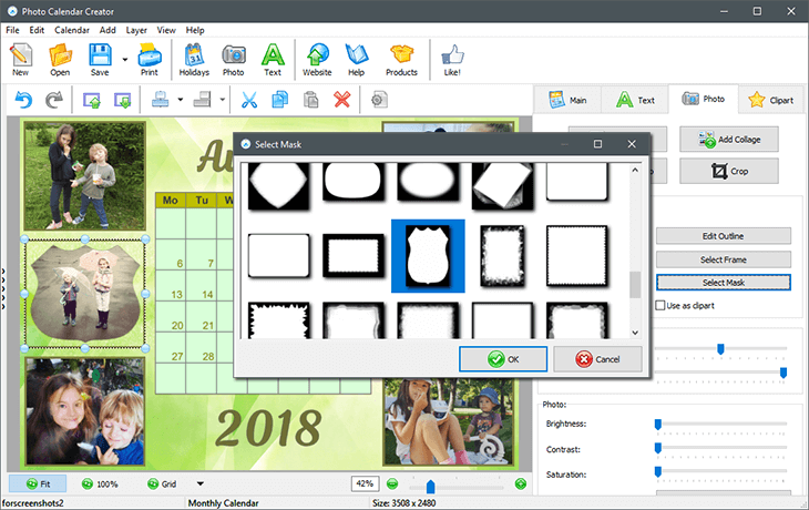 Decorate the page look of your printable calendar