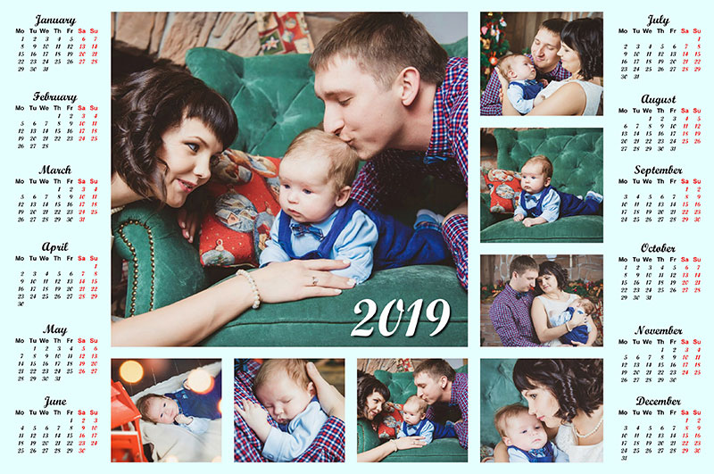 five family photo calendars to create with your own hands