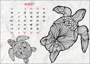 Month coloring calendar