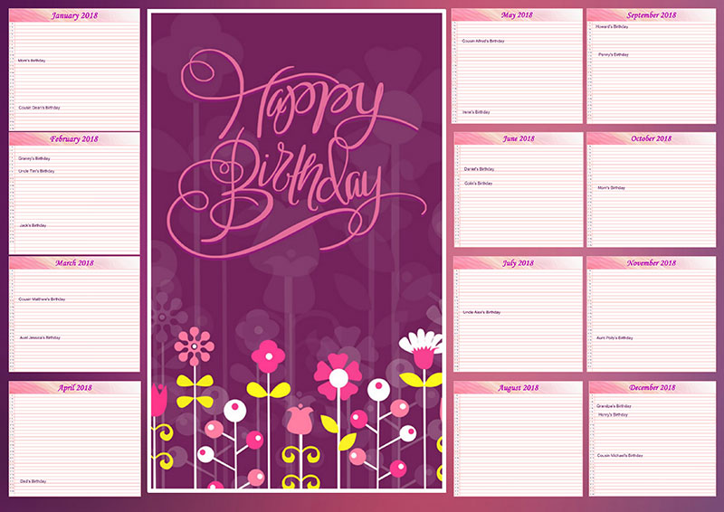 Birthday Calendar.How To Make A Birthday Calendar With Pictures