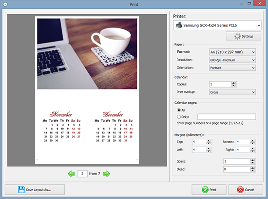 create photo calendars