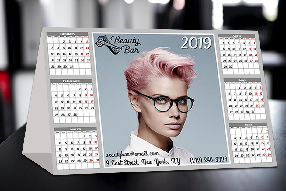 Picture calendar example