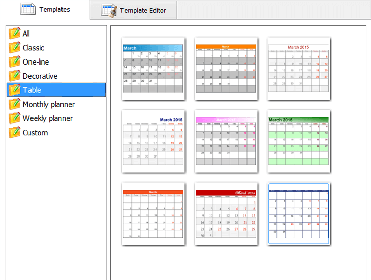 Customize the month grid if necessary